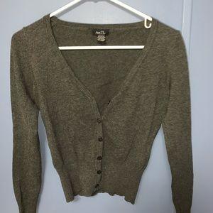 Grey cardigan, button-down